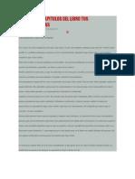 Resumen de Capitulos Del Libro Tus Zonas Erroneas