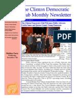 Clinton Democratic Club November 2014 Newsletter