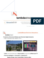 2007 10 Lambdastream Forumtech07