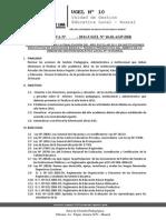 Directiva de Finalizacion Del Año Escolar