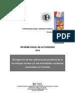 HUGO MARTIN ATOMICA CORDOBA INFORME ANUAL COMUNICACION CNEA 2014