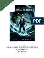 Riordan Rick - Percy Jackson i Bogowie Olimpijscy 1 - Złodziej Pioruna