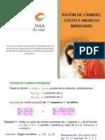 PPT Sesión 13-  Razón de cambio, Costo e Ingreso Marginal.ppt