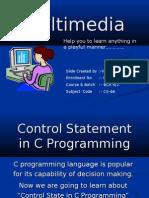Control Statement in C Programming Vijay
