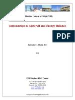 Material & Energy Balance