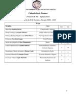 Calendario Exames de Recorrencia 3o Ano 2o Semestre-