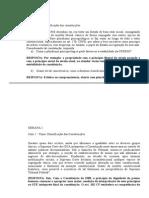 RESPOSTAS CAPTADAS Semanas 1 a 13 Constitucional