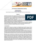 Cognitive Function of Multimedia Learning