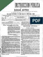 Gaceta de Instrucción Pública y Bellas Artes. 27-3-1908