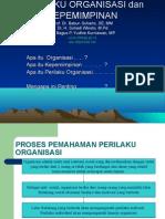 Perilaku Organisasi Dan Kepemimpinan