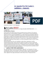 A Human Rights Agenda for Sri Lanka's Presidential Candidates – Amnesty International