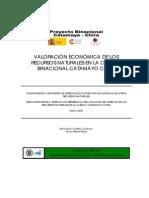 Valoración Económica de Los Recursos Naturales en La Cuenca Catamayo Chira