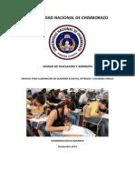 Manual de Evaluaciones UNA 2014