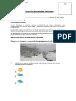 Evaluación de Ciencias Naturales Tiempo Atmoferico