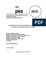 Conpes-3510-31mar2008 Lineamientos de política para promover la producción sostenible de biocombustibles en Colombia.pdf