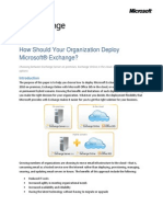 Exchange Deployment Options White Paper