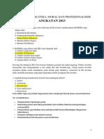 Arsip Soal Blok Etika, Moral Dan Profesionalisme With Review 2013