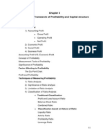 Conceptual Framework of Profitability and Capital Structure