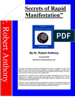 dr.Robert Anthony -  Secrets of Rapid Manifestation