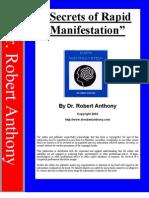 dr.Robert Anthony -  Secrets of Rapid Manifestation