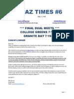 Taz Times 6 Final 7.7.14