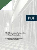 the effectiveness of incarceration
