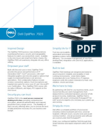 Dell OptiPlex 7020 Technical Spec Sheet FINAL