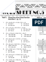 5 Advanced Algebra Worksheet