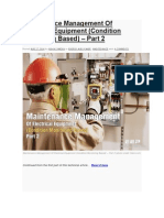 Maintenance Management of Electrical Equipment 2