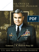 Oral History of General JH Binford Peay III