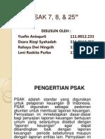 PSAK 7,8,25 (Seminar Akuntansi)