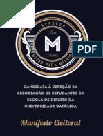 Manifesto Eleitoral da Lista M - AEFDUCP