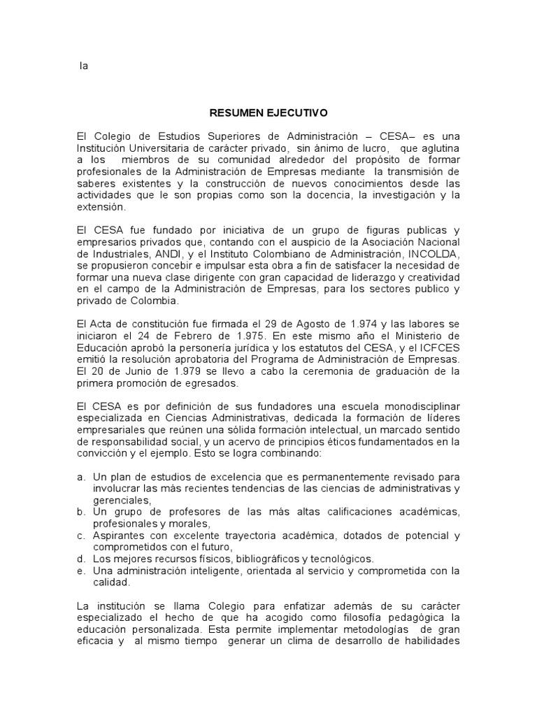 Resumen Ejecutivo Profesional Ejemplo - Professional User Manual ...