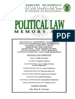 Political Law Memory Aid