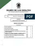 Discurso de Cuahutemoc Cárdenas en la toma de posesión como Jefe de Gobierno del Distrito Federal