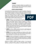 Tabla comparativa TECNOLOGIAS ETHERNET - Pimentel