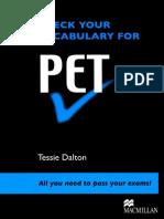 Check Your Vocab for PET Book