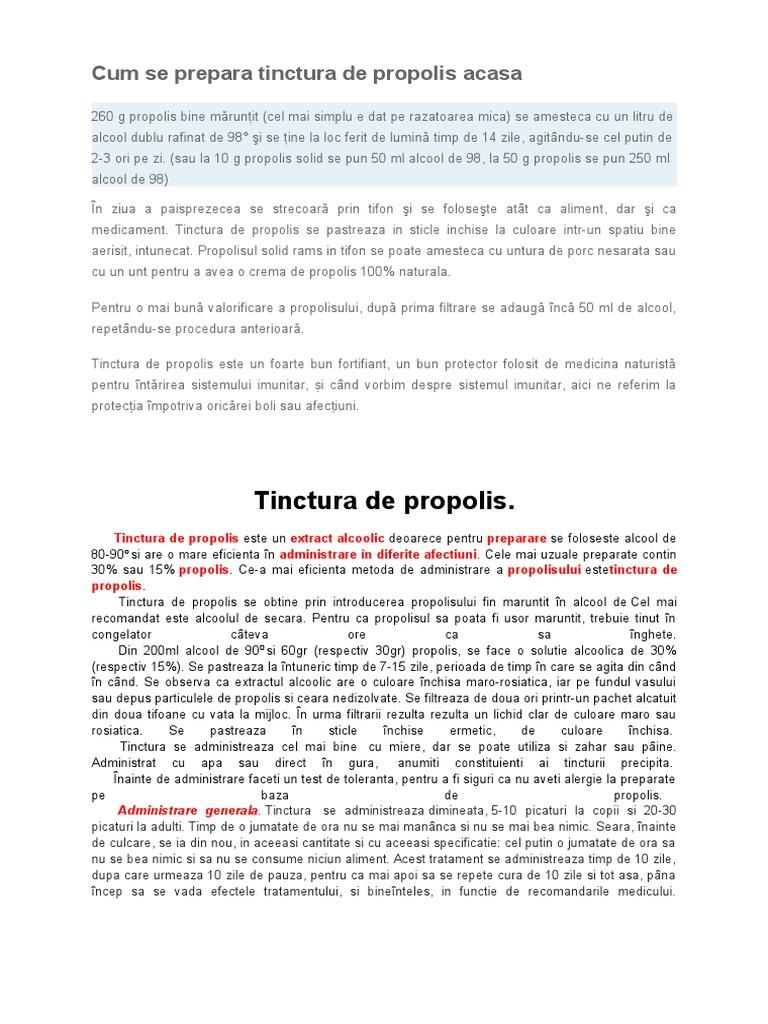 Tinctură de propolis – Beneficii și utilizări