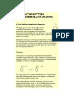 The Reaction Between Methylbenzene and Chlorine