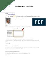 Cara Menggunakan Data Validation