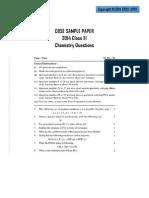 Chemistry CBSE 2014 Sample Paper -2