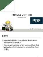 Pemrograman Web Form Method