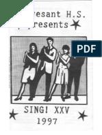 SING! XXV (1997) program