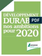 05072014 Lafarge Sustainability Ambitions 2020 Fr