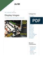 Display Hinges _ Laptop Parts 101