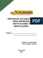 Propuesta de PubPROPUESTA DE PUBLICIDAD PARA EMPRESAS E INSTITUCIONES.dlicidad Para Empresas e Instituciones