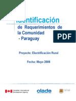 Electrificacion - Identificacion Requerimientos Comunidad Paraguay