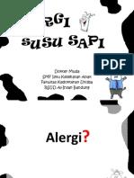 Penyuluhan Alergi Susu Sapi