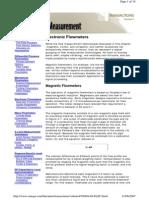 Caudalímetro Magnético GENERAL Principios Fundamentales