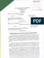 EDCA Saguisag Memorandum for the Petitioner-In-Intervention (2014)